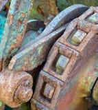 嵌齿轮生锈的轮子 免版税库存照片