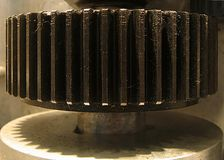 嵌齿轮行业轮子 库存照片
