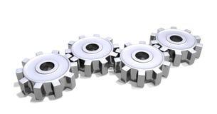 嵌齿轮镀铬物 库存例证