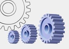 嵌齿轮集合轮子 库存图片