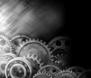 嵌齿轮齿轮工业企业背景 免版税库存图片