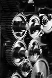 嵌齿轮齿轮grunge noir 免版税图库摄影