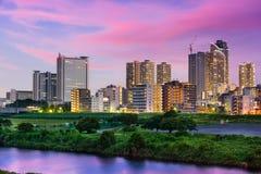 川崎,日本地平线 免版税库存照片