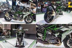 川崎Ninja H2在前31th泰国国际的马达显示了 免版税库存照片