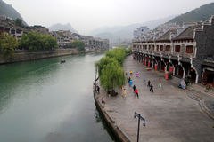 贵州瓷的镇远古镇 库存图片