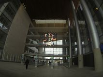 州长乔治Deukmejian法院大楼在长滩 免版税图库摄影