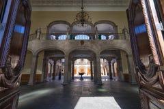 州长宫殿在蒙特雷墨西哥 免版税图库摄影