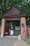 州长宫殿在Wlliamsburg,弗吉尼亚 免版税图库摄影