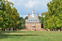 州长宫殿在Wlliamsburg,弗吉尼亚 库存照片