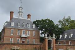 州长宫殿在Wlliamsburg,弗吉尼亚 库存图片