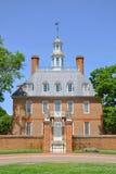 州长宫殿s威廉斯堡 免版税库存照片