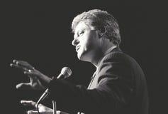 州长比尔・克林顿告诉在纽约集会 免版税库存图片