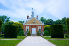 州长的豪宅在殖民地威廉斯堡 图库摄影