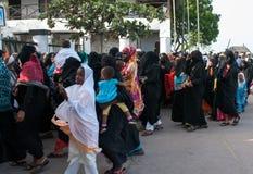 州长竞选活动在拉穆,肯尼亚 库存图片