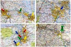 州际公路映射美国 免版税图库摄影