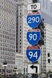 州际公路标志 库存图片