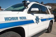 州际高速公路警察巡逻车 免版税库存图片
