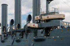 巡洋舰极光在圣彼德堡 免版税图库摄影
