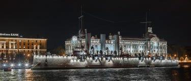 巡洋舰极光,圣彼德堡 免版税库存照片