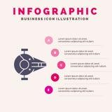巡洋舰,战斗机,拦截机,船,航天器坚实象Infographics 5步介绍背景 库存例证