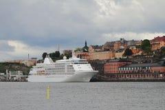 巡航划线员在城市 斯德哥尔摩,瑞典 库存图片