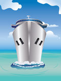巡航划线员在海 免版税库存图片