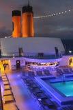 巡航划线员晚上甲板  免版税库存图片