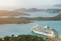 巡航到维尔京圣托马斯海岛 免版税库存照片