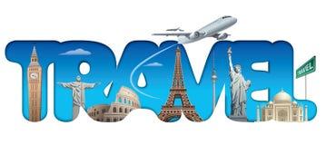 巡航和旅行文本标志 免版税库存图片