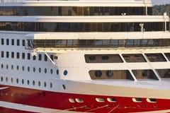 巡航在港口停住的船弓 节假日 库存照片