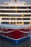 巡航在港口停住的船弓 节假日 免版税库存图片