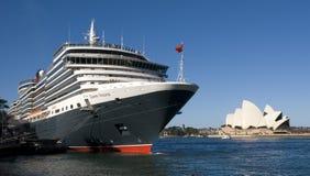 巡航女王/王后船悉尼维多利亚 库存照片