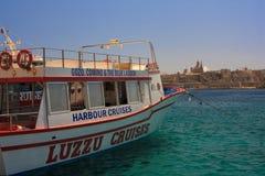 巡航小船马耳他 免版税库存照片