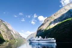 巡航挪威sognefjord 免版税库存照片
