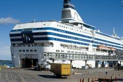 巡航斯堪的纳维亚船 库存照片