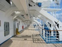 巡航甲板船 库存照片