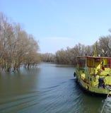 巡航的多瑙河Delta 免版税库存照片