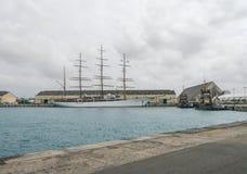 巡航终端在布里季敦,巴巴多斯 库存图片