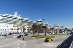 巡航终端在巴塞罗那 库存图片