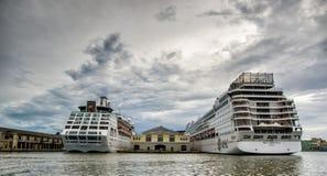 巡航Teminal,哈瓦那,古巴 库存照片