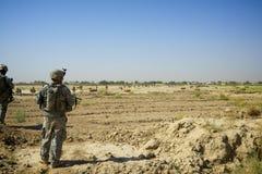 巡逻的战士在坎大哈阿富汗 库存照片