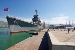 """巡洋舰""""米哈伊尔・库图佐夫"""" 免版税库存图片"""