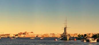 巡洋舰极光,船博物馆在圣彼德堡 库存照片