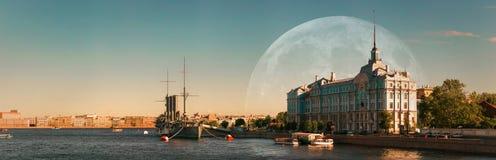 巡洋舰极光,船博物馆在圣彼德堡 图库摄影