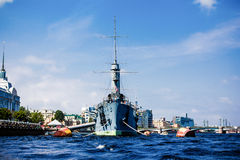 巡洋舰极光 免版税库存照片