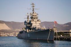 巡洋舰米哈伊尔・库图佐夫 免版税库存图片