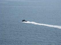 巡逻艇,釜山港口,韩国 免版税库存图片
