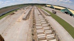 工业农厂鸟瞰图 影视素材