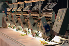 工业刺绣机器 免版税图库摄影
