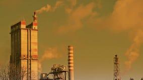 工业区和污染 股票视频